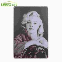 "Wholesale Marilyn Monroe Wholesale Posters - Hot Sexy Marilyn Monroe Image Vintage Home Decor Tin Sign 8""x12"" Cafe Pub Garage Wall Decorative Metal Sign Retro Metal Poster 20170408#"