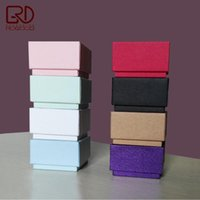 Wholesale Craft Corner - 30pcs lot Square corner good quality pink black white red blue green color packaging box for jewelry ring earring finger ring use