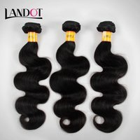 Wholesale Cheap Grade Weave - Unprocessed Brazilian Virgin Hair Body Wave Grade 7A Cheap Brazillian Wavy Human Hair Weaves 3 4 Bundles 100g pcs Natural Black Extensions