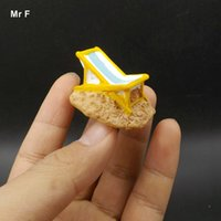Wholesale Beach Chair Accessories - Mini Beach Chairs Resin Crafts Miniatures DIY Toy Game Gift Micro Landscape Decoration Accessories Teaching Aids