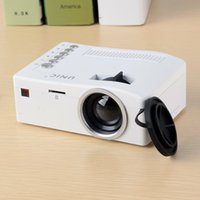 Wholesale Hd Video Movies - LED Mini Projector Unic UC18 Portable Pocket Projectors Supports HDMI USB TF Aux HD Home Movie Theater Media Player
