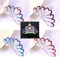 Kinderhaar-mini-clips Kaufen -12PCS KIDS Kronprinzessinkämme koreanische Mini Twinkle Rhinestone Diamante Braut Prinzessin Crown Hair Kamm Haarclip Tuck Tiara Party Hochzeit