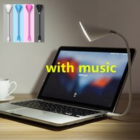 Mini USB Lámpara de sonido Altavoz Bluetooth LED Micro USB Light Night Lights Teléfono Selfie Lights Lámparas de jugador de música Reading Keyboard lights