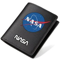 Wallets outer space fashion - Nasa wallet Cool purse Outer space short long leather cash note case Money notecase Loose change burse bag Card holders
