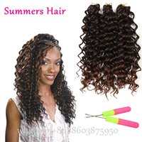 Commercio all'ingrosso - Synthetic Freetress Deep Twist sintetico Freetress Onda profonda Jerry Curly Hairstyle Nuovo riccio riccio Crochet Capelli ricci Crochet