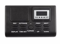 carte enregistreur numérique sd achat en gros de-Moniteur d'appels téléphoniques Enregistreur vocal mini numérique avec écran LCD Fonction d'horloge Support Carte SD Dictaphone enregistreur de téléphone