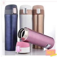 Wholesale- SGS 500ml Cup Stainless Steel Bottle Vacuum Flasks Thermoses garrafa termica infantil my bottle thermo free shipping