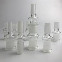 ingrosso vetro bong dotato-Adattatori di vetro adattatori adattatori di vetro adattatori di vetro del bong di 14mm a 18mm adattano gli adattatori di vetro di trasporto libero