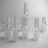 Wholesale fitting glasses - New Glass Adapter Fit Oil Rigs Glass Bong Adapter 14mm Male to 18mm Female Bong Adapters Glass Adapters Free Shipping