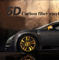 "Wholesale Gloss Carbon Fiber - 84"" x 60"" Premium 5D HIGH GLOSS Black Carbon Fiber Vinyl Bubble Free Air Release Texture Film Wrap Sticker Black For Left Right Front Rear"