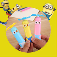 Wholesale Minion Pencils - Both eyes Minions Electric eraser,Monocular Minions Electric eraser,children fan eraser,We strongly recommend this product.