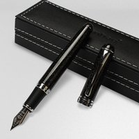 Luxury JINHAO Fountain Pen Black shimmering sands Medium NIB Sign Pens Writing Supplies Party holdiay gift