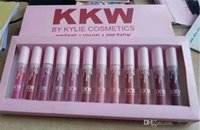 Wholesale New Arrival Kylie KKW Creme Liquid Lipstick SET Lipgloss KKW By Kylie Cosmetics KIM KARDASHIAN High quality DHL
