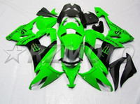 Wholesale Buy Fairings - New ABS bike Fairing Kit Fit For kawasaki Ninja ZX10R ZX-10R 2008 2009 2010 08 09 10 bodywork Set free custom paint hot buy black green