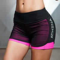 Wholesale Women Pink Compression Shorts - Fitness Yoga Shorts for Women Compression Mesh Overlay Gym Slim Fit Running Sports Short Quick Dry Cardio Training