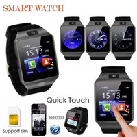Wholesale Smartphone Retail Box - DZ09 Smart Watch Bluetooth Smartwatches Dz09 Smart watches with Camera SIM Card For Android Smartphone SIM Intelligent watch in Retail Box