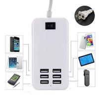 ac çoklu fiş adaptörü toptan satış-6 Port USB Masaüstü Çok Fonksiyonlu Hızlı Duvar Şarj AC Güç Adaptörü ABD Plug DHL tarafından Ücretsiz kargo
