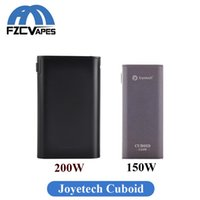 Wholesale External Battery Dhl - Authentic Joyetech Cuboid 150W 200W Box Mod Triple 18650 Battery External TC Vape Mod E Cigarettes DHL Free