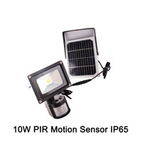 Led Flood Light Pir capteur de mouvement solaire Induction Sense 10W 5W IP65 imperméable Led Floodlight Cold White Publicité Lampe
