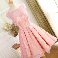 Wholesale High Low Dress Real Sample - Real Sample Sexy Open Back High Low Prom Dress Lace Scoop Vestido De Festa Cheap Price Evening Dresses Party Elegant 2017