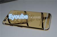 24ct gold gehäuse großhandel-Heiße neueste 100% 24 Karat Gold überzogene Platin Gehäuse gravieren Schädel für iphone6 Gold Gehäuse für Iphone6 4.7 Zoll