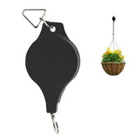 Wholesale Hanging Pulleys - Creative Adjustable Telescopic Plant Hanger Holders Plant Pulley Holder Hooks for Hanging basket Indoor outdoor Decoration