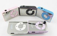 Wholesale Mini Clip Mp3 1gb - Wholesale- Wholesale 10pcs lot !Newest Mini Sport Mirror clip MP3 Player 6 Colors Free shipping