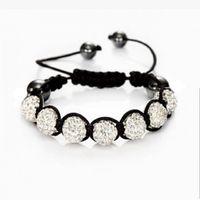 nouveaux bracelets à ballet disco achat en gros de-Vente en gros-Fashion Shambhala Bijoux New Mix Couleurs Promotion des ventes 10mm Crystal AB Clay Disco 9 Balles Shambala Bracelets