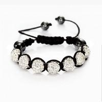 Wholesale Shambala Jewelry - Wholesale- Fashion Shambhala Jewelry New Mix Colors Sales Promotion 10mm Crystal AB Clay Disco 9 Balls Shambala Bracelets
