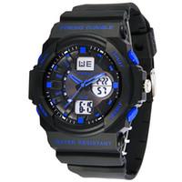 reloj análogo de alarma múltiple al por mayor-Synoke Moda Multi Relojes de Los Hombres Reloj Analógico LED de Los Hombres Fecha de Alarma Deportes Militar Reloj de Pulsera Reloj de Luz de Fondo