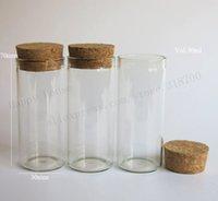 ingrosso tubi di vetro-200pcs / lotto 30ml Tubo di vetro con tappo in sughero, 1oz Tappo di tappo in sughero per gioielli, cibo, fiore, fagiolo, perlina, uso di luccichii