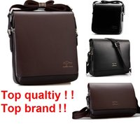 Wholesale Man Leather Handbag Black Big - Wholesale-Freeshipping 2016 Rushed Zipper Handbags Men Messenger Bags, Big Promotion Genuine Kangaroo Leather Shoulder Bag Man Briefcase 2