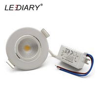 Wholesale- LEDIARY Nueva LED Red Empotrable COB Downlights LED Spot Lámpara Real 3W 100V-240V Ángulo ajustable 55mm Cut agujero 2 pulgadas Blanco Cuerpo