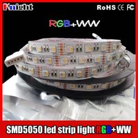 Wholesale Waterproof Aquarium Blue Led Lights - new arrival rgb+WW smd5050 led strip light sleeving waterproof Aquarium lamps plants led Fish Bowl Tank light Flexible led strip light 100m