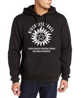 Wholesale Winchester Sweatshirt - Wholesale-Fashion Supernatural Winchester Bros hoodies men 2016 autumn hip-hop fleece sweatshirt harajuku fitness tracksuit kpop pullovers