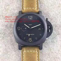 Wholesale 44mm Pam - Luxury Best Edition ZF Factory Ceramic 3 DAYS 1950 GMT 44MM PAM441 PAM00441 PAM 441 00441 CAL.P.9001 Movement Automatic Mens Watch Watches