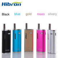 Wholesale Led Weeding - Pre-heating Hibron H10S Variable Voltage Box Mod With LED Screen 0.8ml Wee tank Wee vaporizer 650mah Battery Mystica VV Mini Box Mods