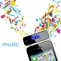 araba radyosu için usb kabloları toptan satış-Toptan-2016 Kablosuz 3.5mm LCD Ekran Araba Radyo MP3 Çalar Kiti In-araba FM Verici Handsfree Akıllı Telefonlar Için Mikro USB Kablosu