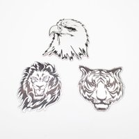 Emblemas Coche Águila Baratos-Cool 3D Metal Car Animal Pegatinas Logo Lion / Eagle / Tiger Emblem Badge Decal Para BMW AUDI VW Ford Honda Pegatinas
