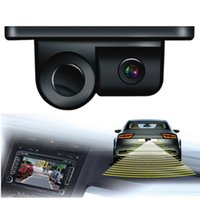 Wholesale Angle Parking - Esky 170 Degree Viewing Angle HD Waterproof Car Rear View Camera with Radar Parking Sensor hot
