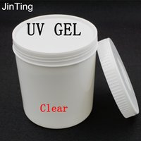 Wholesale Uv Builder Gel Kg - Wholesale- 1 KG High Quality Nail Art Transparent Clear UV Gel Builder Polish Tool For Acrylic Tips Extensions Decorations