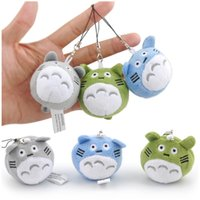 Meu vizinho Totoro Doll Cat Bus Mini brinquedos de peluches Soft Stuffed Dolls 6cm Phone Strips Bags Pendant
