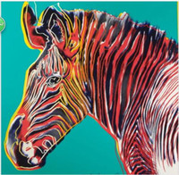 Wholesale Life Size Zebra - Andy Warhol Grevy's Zebra Giclee High Quality Canvas HD Print Animal Paintings Multi sizes for Choose berkin