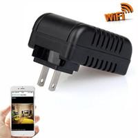 камера движения на стене оптовых-1080P Wifi адаптер камеры движения активирован адаптер переменного тока DVR USB зарядное устройство DVs ночного видения камеры няня Cam главная камера безопасности