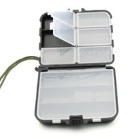 Wholesale fly box case - Wholesale- Lure Spoon Hook Bait 9 Compartment Fly Fishing Holder Storage Case Tackle Box