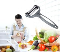 Wholesale carrot cutter slicer - 2017 4 in 1 Multifunction Potato Peeler 360 Degree Rotary Carrot Melon Vegetable Fruit Slicer Cutter Zesters,Kitchen Accessories Tools MYY