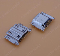 Wholesale Port Usb Galaxy S3 - 100pcs lot Micro USB Connector JACK Socket Charging Charger Port dock plug for Samsung Galaxy S3 i9300 i9305 i535 i747 L710 T999