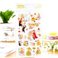 Wholesale Scrapbooking Fairies - 12 pcs Lot Fairy story stickers The Rapunze Korean diary stickers for foto album mobile book scrapbooking tools Stationery 6932