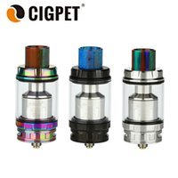 Vente en gros - Réservoir CIGPET ECO12 original 6.5ml avec ECO-T12 / Q4 Bobine 0.12 ohm / 0.15ohm ECO12 Cloud Vapor Atomizer Airflow Ajustable 510 Thread