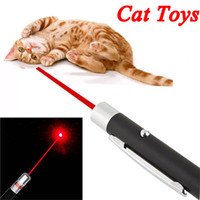 Wholesale Red Beam Laser Pointer - Funny Pet stick Childrens Cat Toys 5mW Pen Shaped Single Point LED Red Beam Laser Pointer Pen for Work Teaching Training
